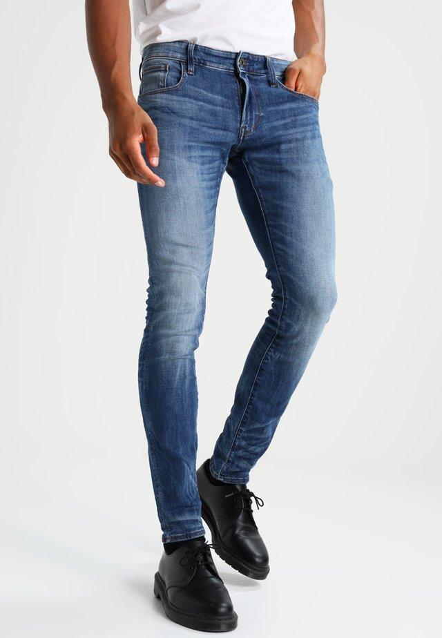 3301 DESCONSTRUCTED SUPER SLIM - Jeans Skinny - medium indigo aged