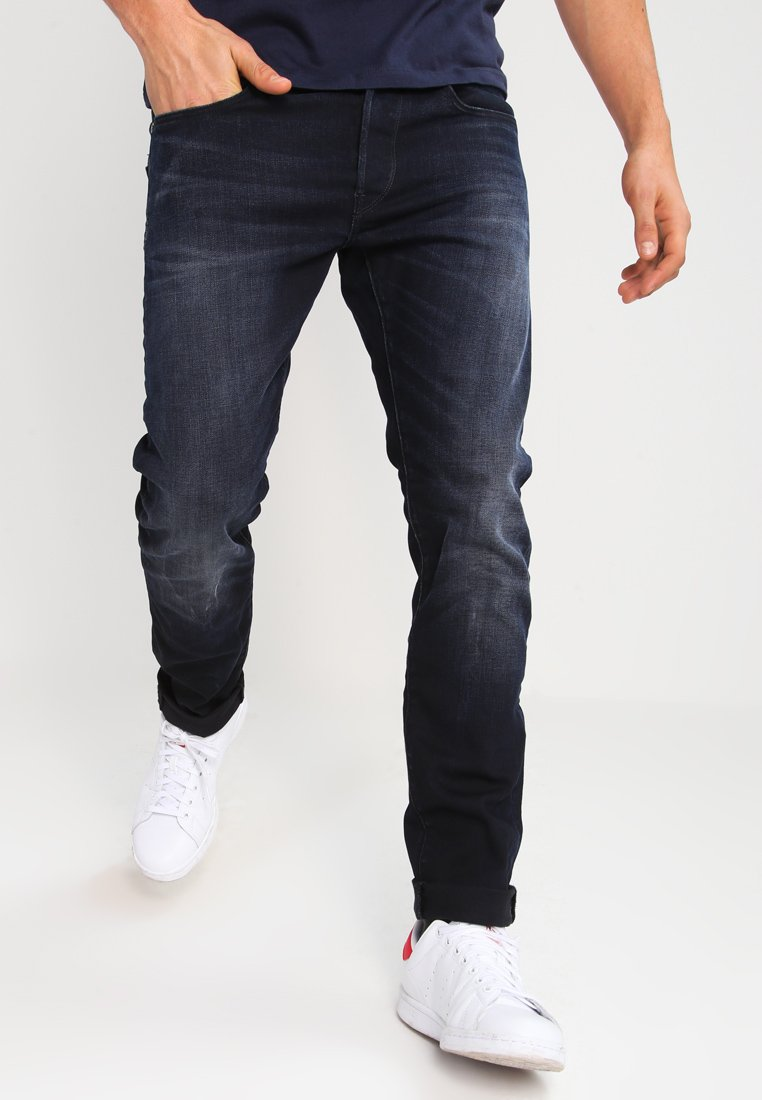 G-Star - 3301 SLIM - Džíny Slim Fit - siro black stretch denim