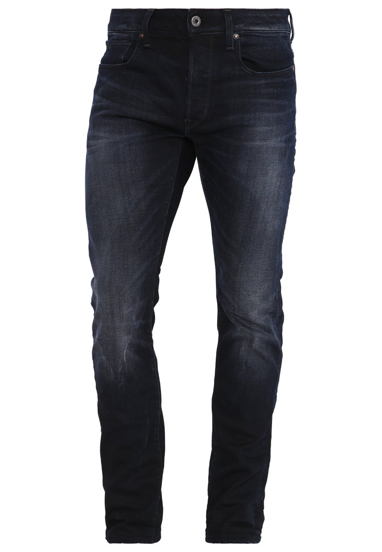 G-Star 3301 SLIM - Jeansy Slim Fit - siro black stretch denim
