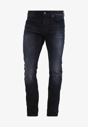 3301 SLIM - Jeansy Slim Fit - siro black stretch denim