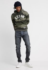 G-Star - 3301 SLIM - Jeansy Slim Fit - anthrazit - 1