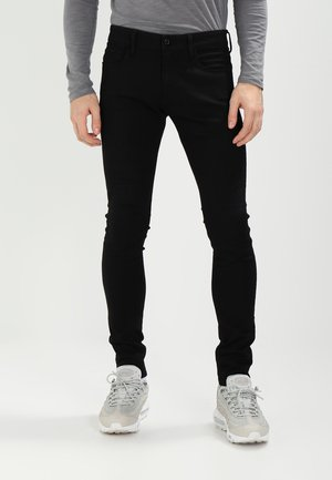 3301 DECONSTRUCTED SUPER SLIM - Jeans Skinny - black