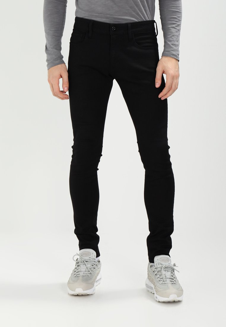 G-Star - 3301 DECONSTRUCTED SUPER SLIM - Jeans Skinny Fit - black