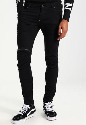 5620 3D ZIP KNEE SUPER SLIM - Slim fit jeans - rinsed