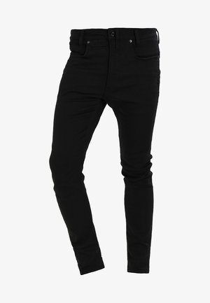 D-STAQ 3D SUPER SLIM - Slim fit jeans - black superstretch