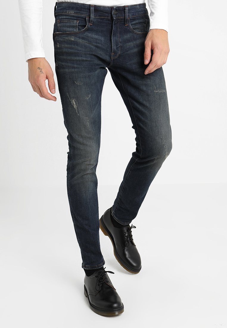 G-Star - 3301 DECONSTRUCTED SKINNY - Jeans Skinny Fit - dark aged antic destroy