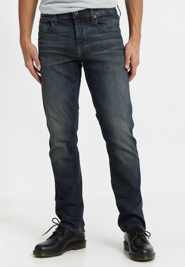 G-Star - 3301 STRAIGHT - Straight leg jeans - elto superstretch dk aged antic