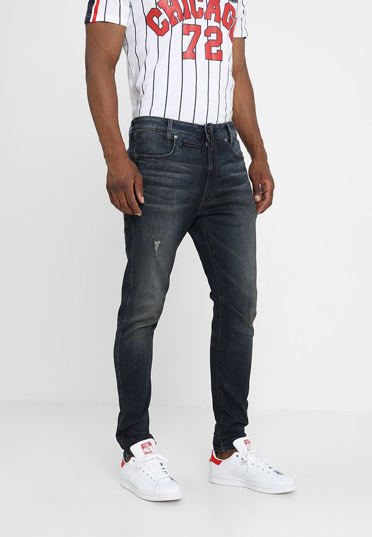 G-Star - D-STAQ 3D SKINNY - Jeans Skinny Fit - dark aged antic destroy