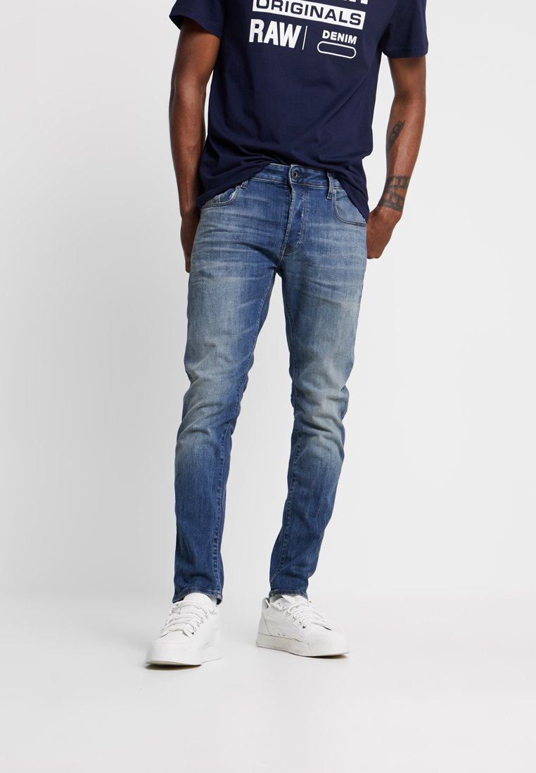 G-Star - 3301 SLIM - Džíny Slim Fit - elto superstretch/vintage medium aged