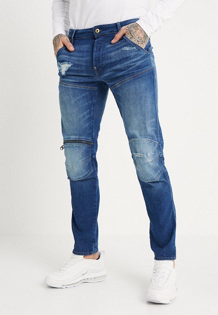 G-Star - 5620 3D ZIP KNEE RP SLIM - Slim fit jeans - rode stretch bt denim - medium aged ripped