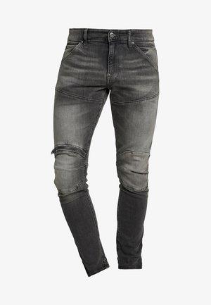 5620 3D ZIP KNEE SKINNY - Jeans Skinny Fit - elto black superstretch/medium aged grey