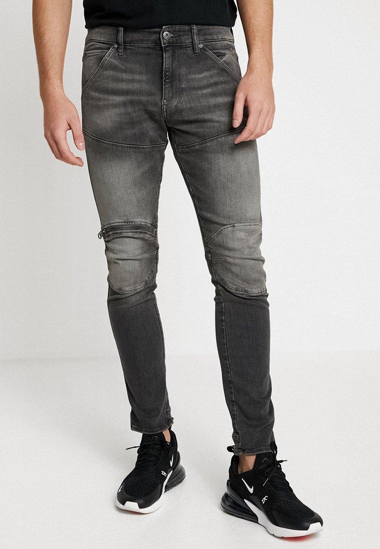 G-Star - 5620 3D ZIP KNEE SKINNY - Jeans Skinny Fit - elto black superstretch/medium aged grey
