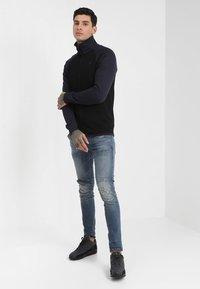 G-Star - 5620 3D ZIP KNEE SKINNY - Jeans Skinny Fit - elto superstretch - dark aged antic restored 33 - 1