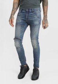 G-Star - 5620 3D ZIP KNEE SKINNY - Jeans Skinny Fit - elto superstretch - dark aged antic restored 33 - 0