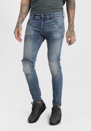 5620 3D ZIP KNEE SKINNY - Jeans Skinny Fit - elto superstretch - dark aged antic restored 33