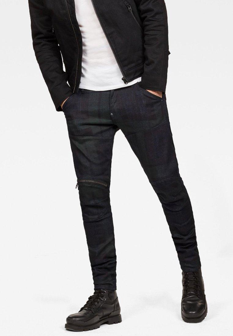 G-Star - 5620 3D ZIP KNEE SKINNY - Jeans Skinny Fit - mottled black