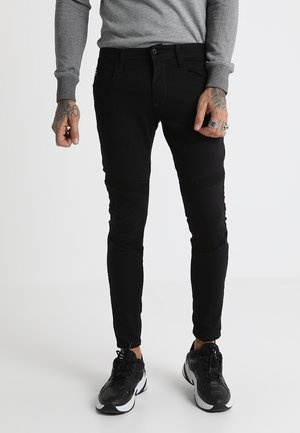 MOTAC-O DC 3D SKINNY - Jeans Skinny Fit - ita black superstretch - rinsed