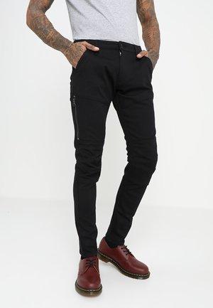 RACKAM DC ZIP SKINNY - Jeans Skinny Fit - ita black superstretch - rinsed