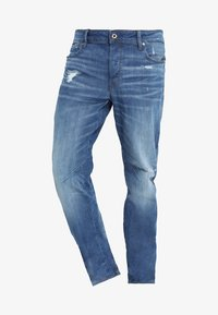 G-Star - ARC 3D RELAXED TAPERED - Relaxed fit jeans - rode stretch bright denim - medium aged ripped - 3