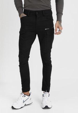 ROVIC ZIP 3D SKINNY - Jeans Skinny Fit - ita black superstretch - raw denim