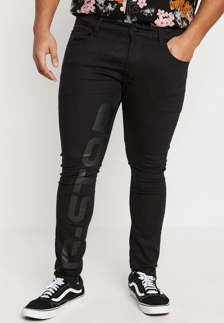 G-Star - 3301 DECONSTRUCTED SKINNY ART - Jeans Skinny Fit - ita black superstretch - rinsed