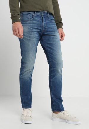 3301 STRAIGHT TAPERED - Jeans straight leg - rode stretch bt denim/medium aged