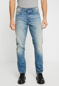 G-Star - 3301 STRAIGHT TAPERED - Jeans straight leg - cyclo stretch denim - light aged - 0
