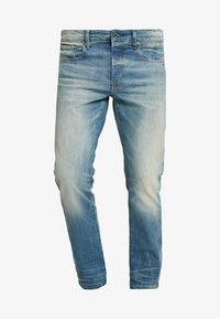 G-Star - 3301 STRAIGHT TAPERED - Jeans straight leg - cyclo stretch denim - light aged - 4