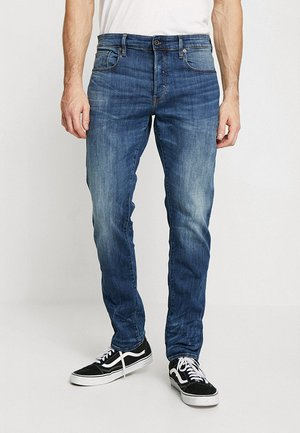 3301 STRAIGHT TAPERED - Straight leg jeans - elto superstretch - medium indigo aged