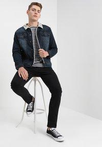 G-Star - 3301 SLIM - Jeans slim fit - black denim - 1