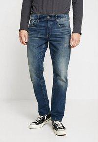 G-Star - 3301 STRAIGHT - Jeansy Straight Leg - higa stretch denim - medium aged - 0