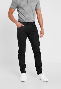 G-Star - ARC 3D SLIM - Jeansy Slim Fit - ita black superstretch rinsed - 0