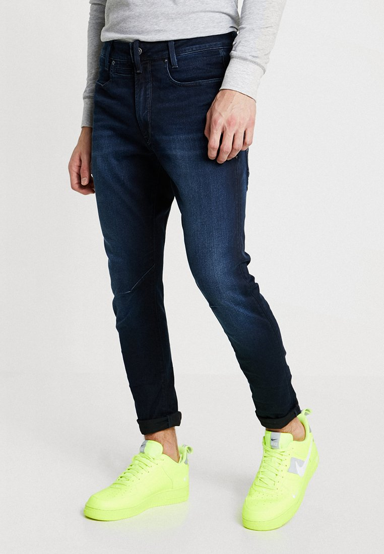G-Star - D-STAQ 3D SLIM - Slim fit jeans - slander indigo superstretch/dark aged