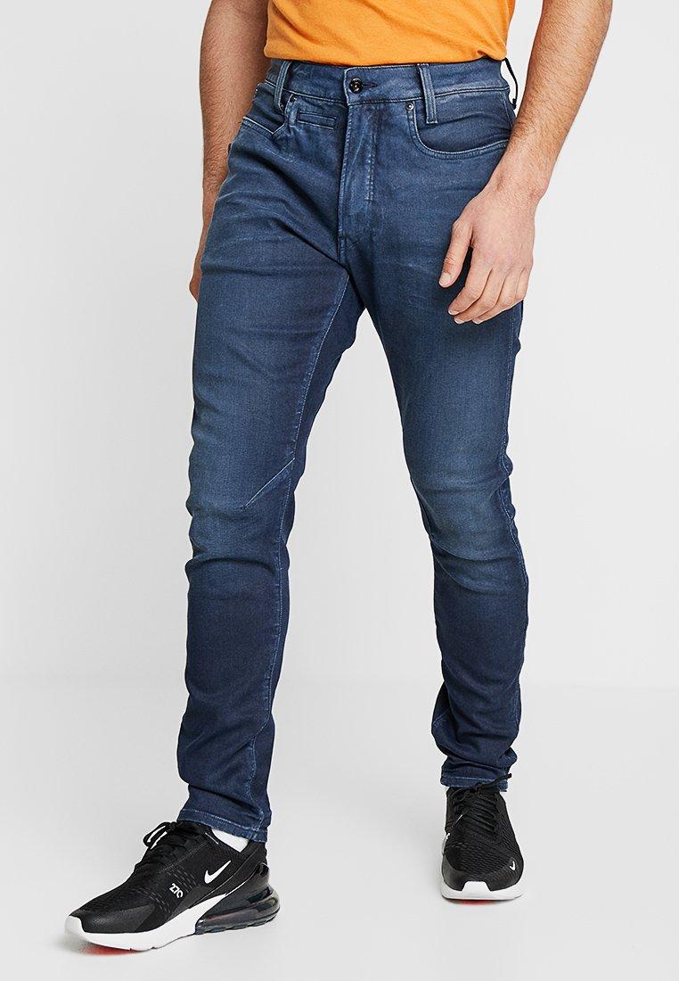 G-Star - D-STAQ 3D ZIP SLIM - Slim fit jeans - loomer blue rop stretch - vintage dk aged cobler