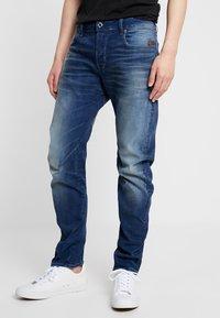 G-Star - ARC 3D SLIM FIT - Vaqueros slim fit - joane stretch denim - worker blue faded - 0