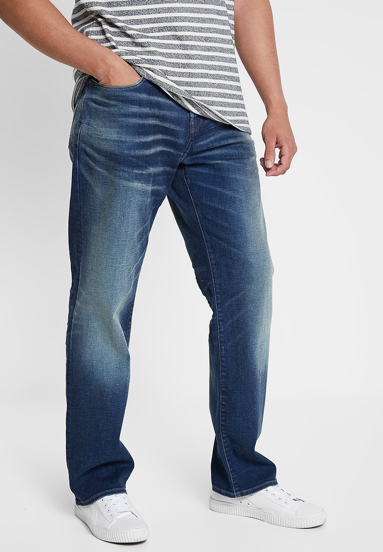 G-Star - 3301 LOOSE FIT - Jeans relaxed fit - joane stretch denim - worker blue faded