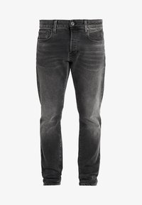G-Star - 3301 SLIM - Slim fit jeans - nero black stretch denim - antic charcoal - 4