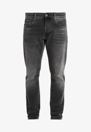 3301 SLIM - Jeansy Slim Fit - nero black stretch denim - antic charcoal