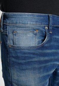 G-Star - 3301 SLIM - Jean slim - joane stretch denim worker blue faded - 3