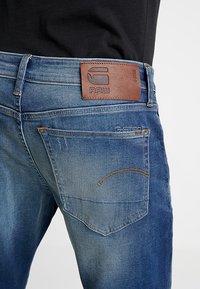 G-Star - 3301 SLIM - Jean slim - joane stretch denim worker blue faded - 4