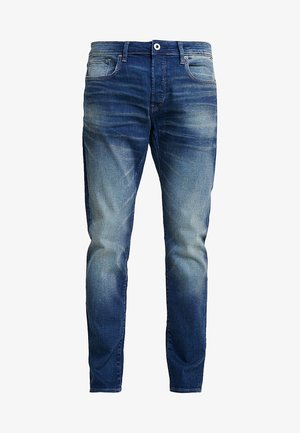 3301 SLIM - Džíny Slim Fit - joane stretch denim worker blue faded