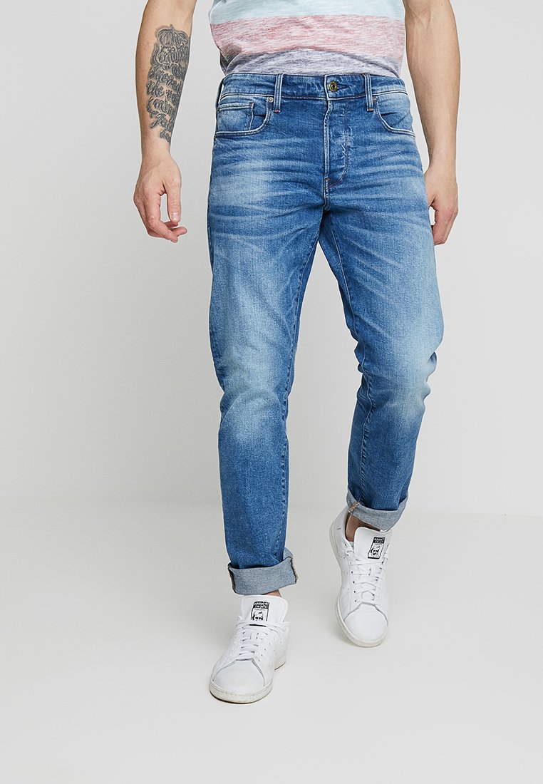 G-Star - 3301 STRAIGHT FIT - Straight leg jeans - azure stretch denim