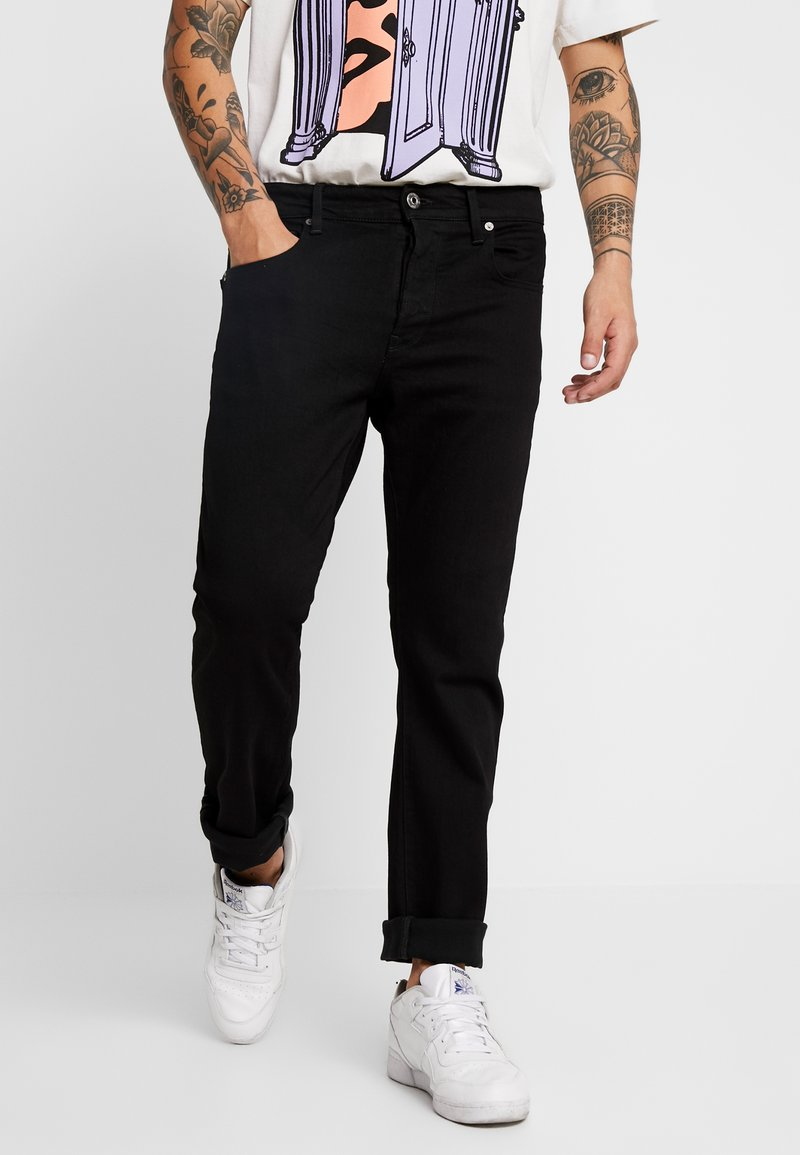 G-Star - 3301 STRAIGHT FIT - Straight leg -farkut - black denim