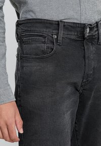 G-Star - 3301 STRAIGHT TAPERED FIT - Jeansy Straight Leg - faded charcoal - 3