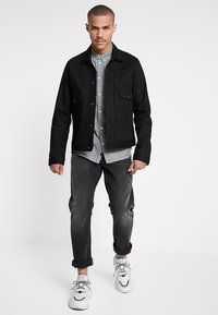 G-Star - 3301 STRAIGHT TAPERED FIT - Jeansy Straight Leg - faded charcoal - 1