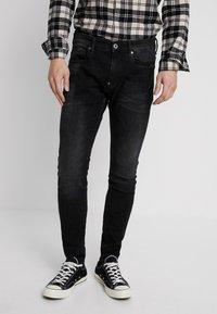 G-Star - REVEND SKINNY - Jeans Slim Fit - black denim - 0