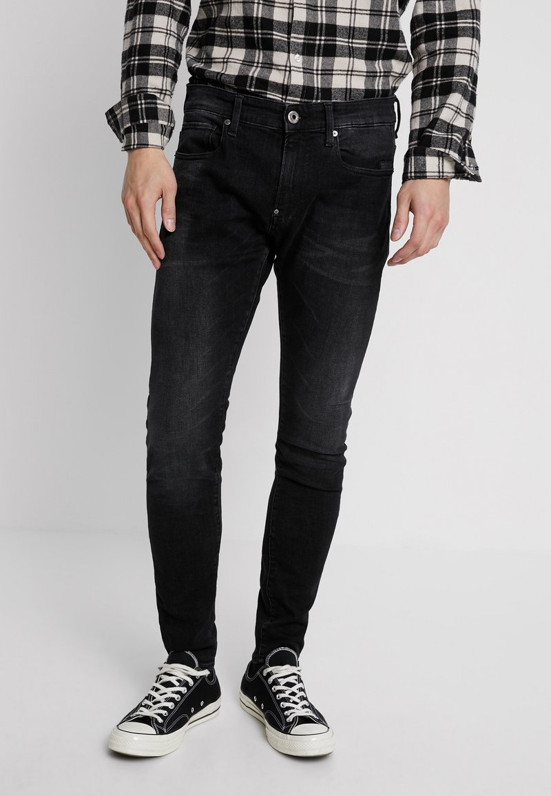 G-Star - REVEND SKINNY - Jeans Slim Fit - black denim