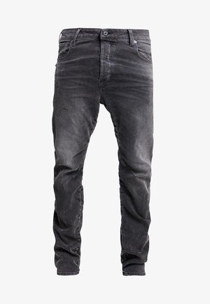 TOBOG 3D RELAXED TAPERED - Relaxed fit jeans - nero black/antic charcoal