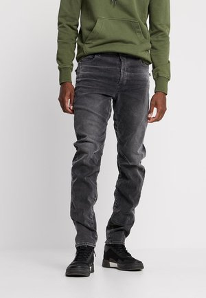 TOBOG 3D RELAXED TAPERED - Jeans relaxed fit - nero black/antic charcoal