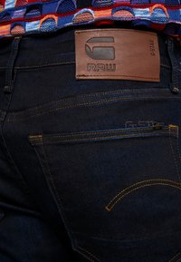 G-Star - 3301 SLIM FIT - Slim fit jeans - visor stretch denim - dk aged - 4